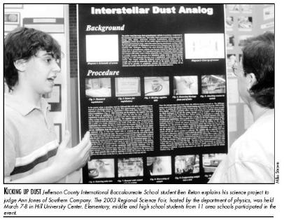 """Ben Retan presenting research on """"The Formation of an Interstellar Dust Analog"""""""
